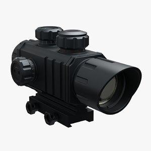 rifle scope 3D model