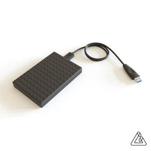 blender hard drive 3D