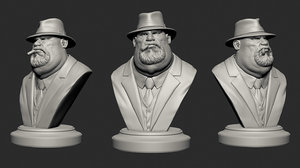 3D model mafia boss