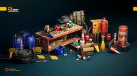 UE4 Realistic Garage Tools
