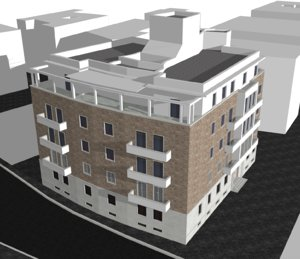 3D model building rome italy