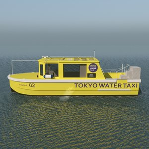 tokyo water taxi 3D model