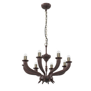 3D korn 8 chandelier chelini