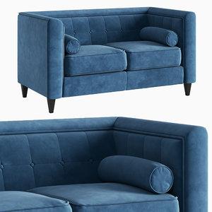 3D sofa taylor light blue model