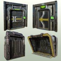 PBR Sci-fi Doorways