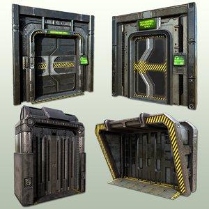 pbr doorway 3D
