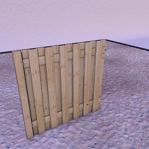 fences landscape garden 3D model