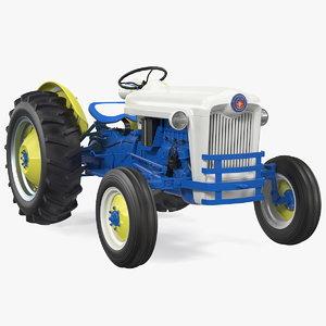 3D restored vintage tractor