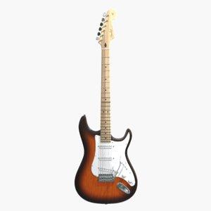 3D model fender stratocaster guitar