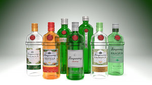 tanqueray - bottles pack 3D model