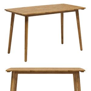 3D trinidad table model