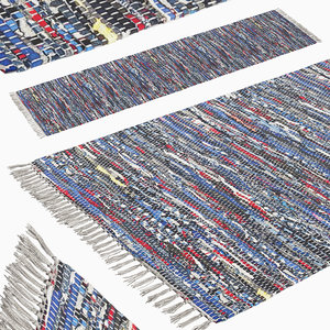 3D model carpet hand woven striped