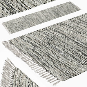 carpet hand woven striped 3D model