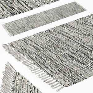 carpet hand woven striped 3D model