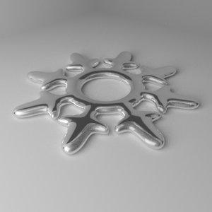 3D model snowflake 10