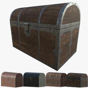 3D simple chest modeled 4k