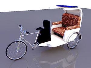 3D bike rickshaw 3