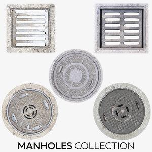 3D manhole hole