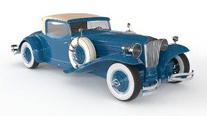 retro car 1929 cord 3D