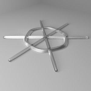 3D snowflake 20 model
