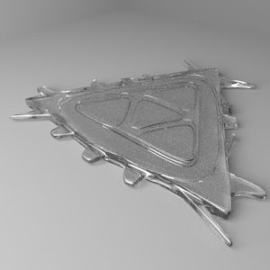 snowflake 19 3D model