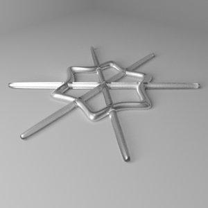 snowflake 14 3D model