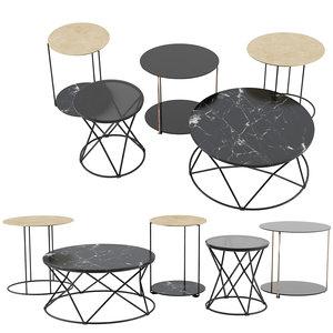 3D model moi mio coffee tables