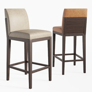 alia barstool counter stool 3D