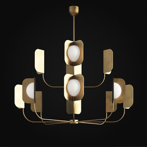 mmlampadari leaf chandelier 3D model
