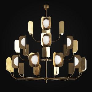 mmlampadari leaf chandelier 3 3D model