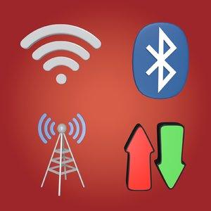 signal connexion signs 3D model