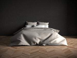 modern bed archviz 3D model