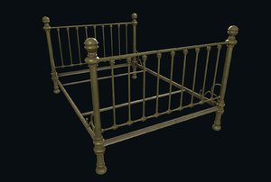 3D old bed