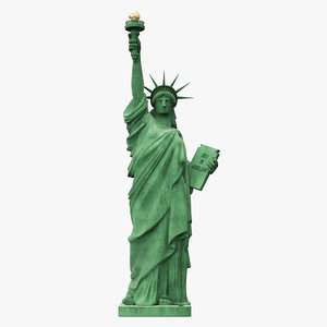 liberty statue 8k sculpture 3D model