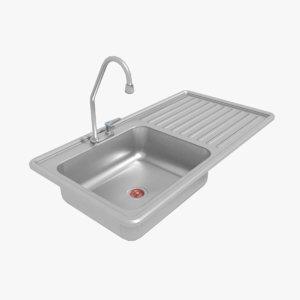 3D pbr simple sink model