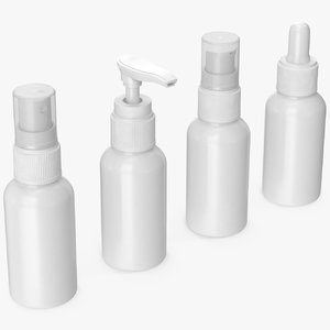 cosmetic containers 50 ml 3D model