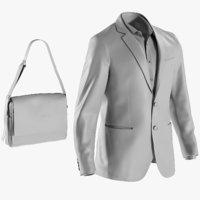 BASE MESH Men's Blazer with Shirt and Bag