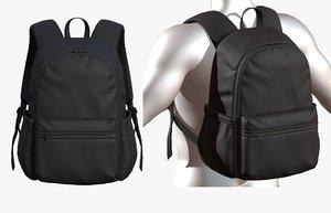fashion bag backpack 3D