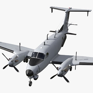3D model beechcraft rc12x guardrail army