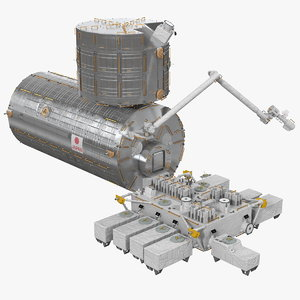 3D model iss jem science module