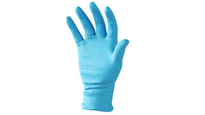 3D surgical latex gloves right