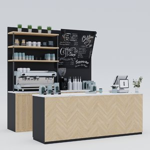 3D coffee bar decor