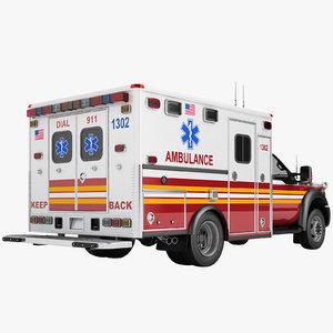 3D f450 2012 ambulance model