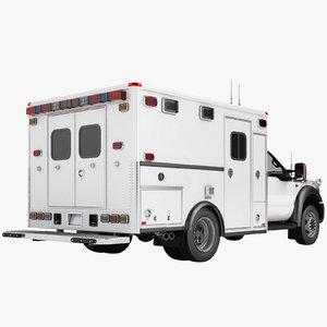 f450 2012 ambulance 3D model