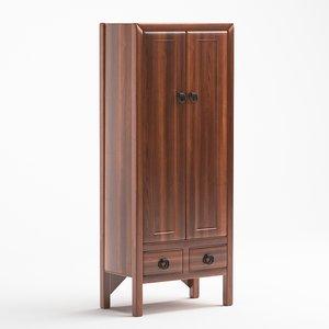 wooden wardrobe 3D model