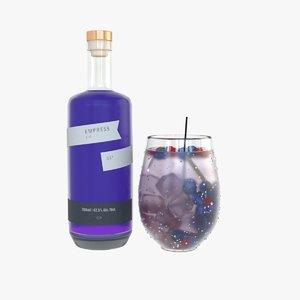 3D drink empress 1908 gin