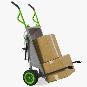 garden cart cardboard box 3D model