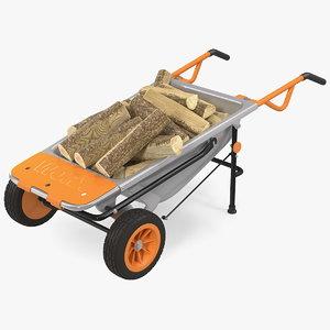 worx aerocart 8in1 wheelbarrow 3D model