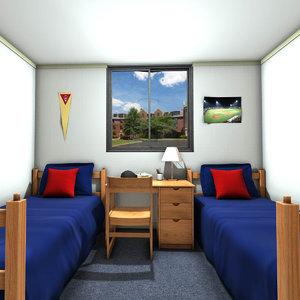 university dormitory 3D model