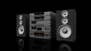 3D model hi-fi multi component